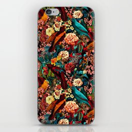 FLORAL AND BIRDS XVII iPhone Skin