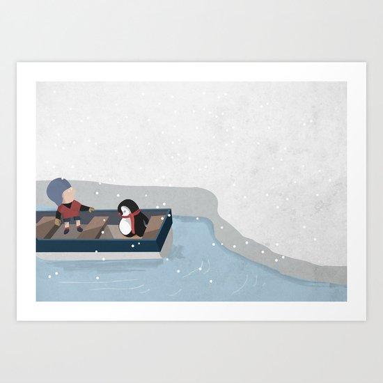 Reaching the South Pole Art Print