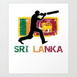 Sri Lanka Cricket, Sri Lanka Cricket Gift Art Print