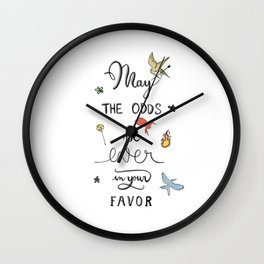 Hunger Game quality calligraphy Wall Clock