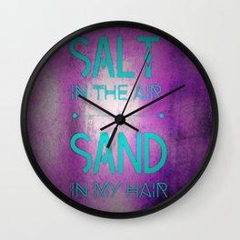 summer text Wall Clock