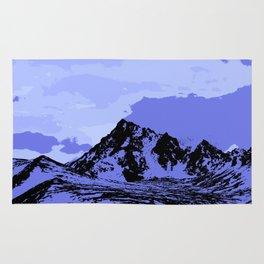 Chugach Mountains - Blue Pop Art Rug