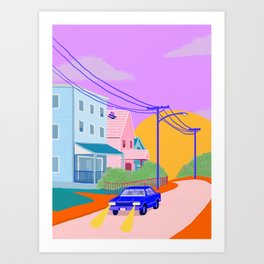 Let's go for a drive Art Print