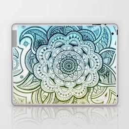 Mandala Blue Yellow Laptop & iPad Skin