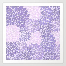 Lavender Dahlias Art Print