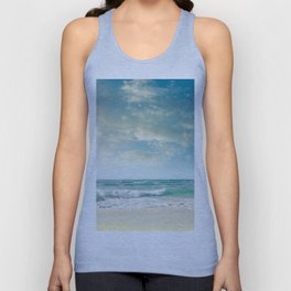 beach love tropical island paradise Unisex Tank Top