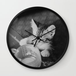 Our kitty on Quebec St. Wall Clock