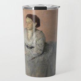Portrait of Madame René de Gas Travel Mug
