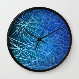 Cyan Linear Explosion Wall Clock