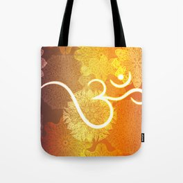 Indian ornament pattern with ohm symbol Tote Bag