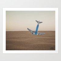 Plane Down Art Print