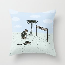La Gran Carrera Throw Pillow