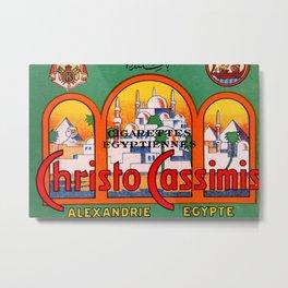 Christo Cassimis Egyptian Cigarettes Metal Print