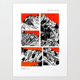 After Wainwright - Blencathra 26 Art Print