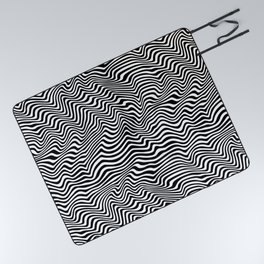 Op Art Stripes Picnic Blanket