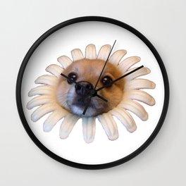 Flower Doggo Wall Clock