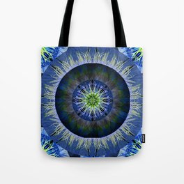 Mandala in Blue and Yellow Tote Bag