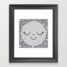 Moon Face Framed Art Print
