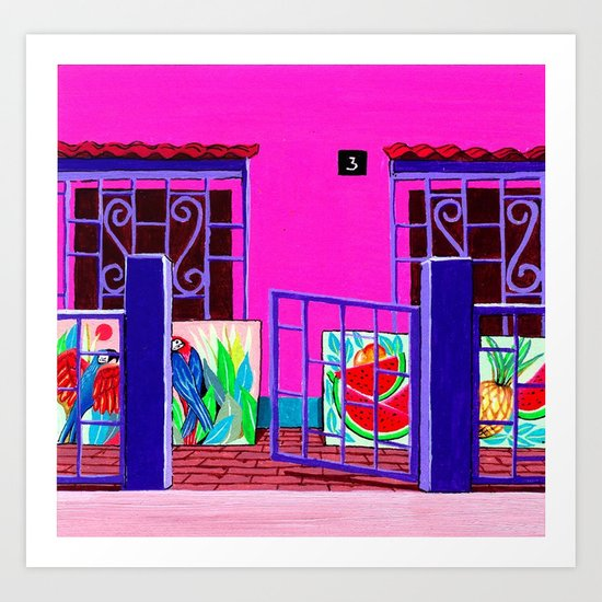 Exotic Artist House Glimpse  Art Print