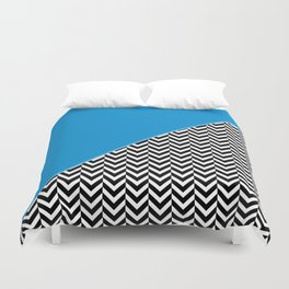 Chevron and Blue Duvet Cover