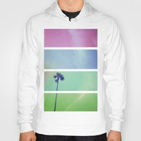palm tree Hoodies featuring Palm Tree by Whitney Retter