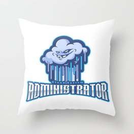 Brilliant Cloud System Administrator Throw Pillow