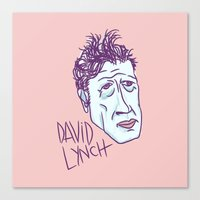 david lynch Canvas Prints featuring DAVID LYNCH by Josh LaFayette