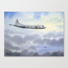 P-3 Orion Aircraft Canvas Print