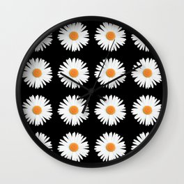 Daisy Pattern Wall Clock