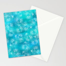 Ocean print Shells Summer Sea snails Stars Nature print Animal print Stationery Cards