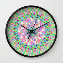 Pink funnel Wall Clock