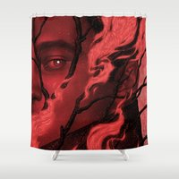 camus Shower Curtains featuring Byronic V by Boris Pelcer