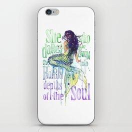 Mermaid : Profound Depths iPhone Skin
