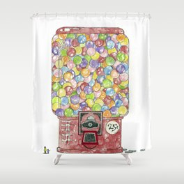 Gumballs Shower Curtain