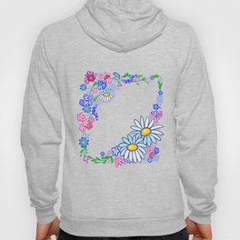 Frame from abstract flowers Hoody