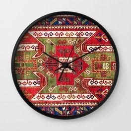 Sevan Kazak Southwest Caucasus Rug Print Wall Clock