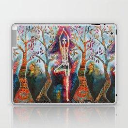 Roots, Dia De Los Muertos Yoga Tree Pose Laptop & iPad Skin