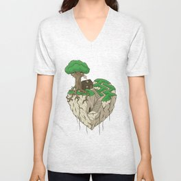 Lonely heart Unisex V-Neck