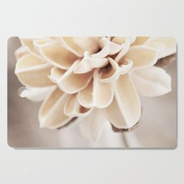 Cream Beige Flower Photography, Light Brown Pale Neutral Nature, Floral Botanical Cutting Board