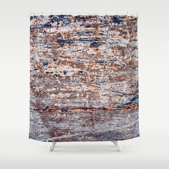 Old Boat Blue Shower Curtain
