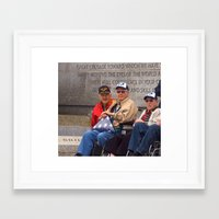 heroes Framed Art Prints featuring Heroes by Anthony M. Davis
