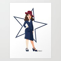 agent carter Art Prints featuring Agent Carter by Shelby Wolf