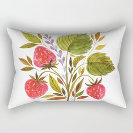 Early Summer Strawberries Are The Sweetest Rectangular Pillow