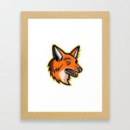 Maned Wolf Mascot Framed Art Print