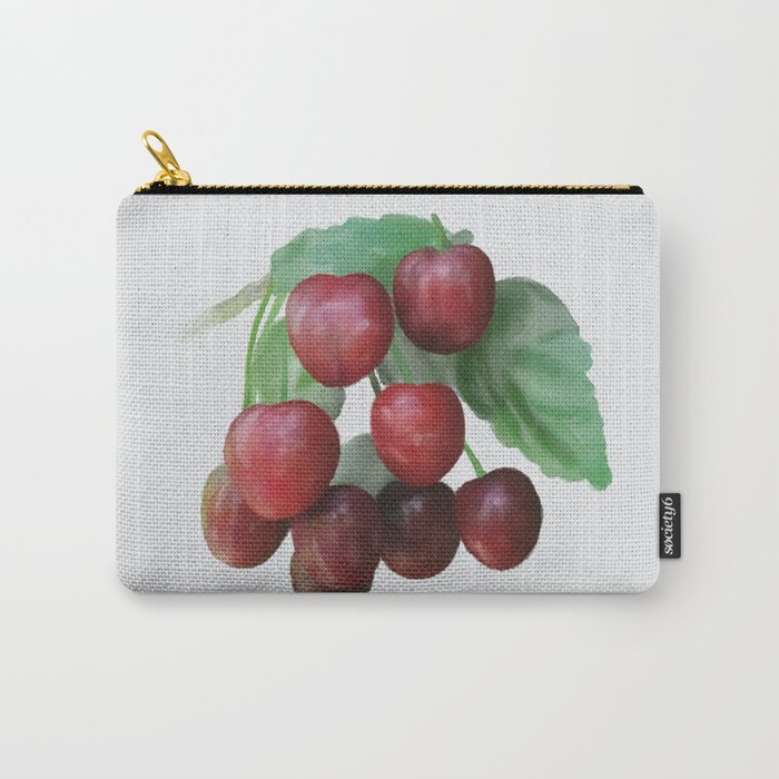 Sour Cherry, watercollor Carry-All Pouch