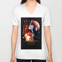 starwars V-neck T-shirts featuring StarWars / DoctorWho by thedrunknown