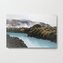 Beautiful Iceland Blue Lagoons Metal Print
