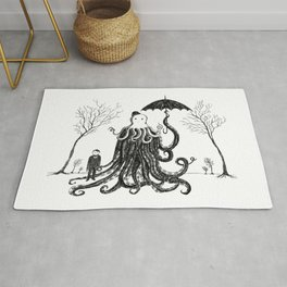 Young Master Lovecraft Finds A Friend Rug