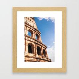 The Colosseum in Rome Italy Framed Art Print