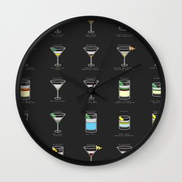 The Gin Cocktail Wall Clock